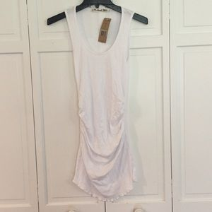Michael stars nwt white long maternity tank